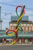 Milano centrum miasta ulicy widok Zdjęcie Stock