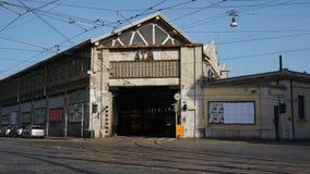 Milano city atm tram deposit royalty free stock photos