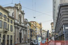 Milano city centre street view Stock Images