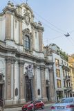 Milano city centre street view Royalty Free Stock Photo
