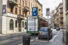 Milano city centre street view Stock Photos