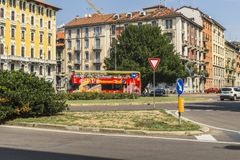 Milano city centre street view Royalty Free Stock Image