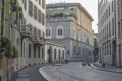 Milano city centre street view Royalty Free Stock Photo