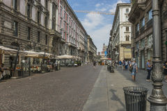 Milano city centre street view Stock Photography
