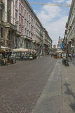 Milano city centre street view Stock Photo