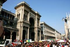 Milano, desfile para el día italiano de la liberación Imágenes de archivo libres de regalías