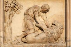 Milano - detalle del Duomo - Samson fotografía de archivo libre de regalías