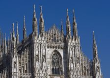 Milano dome detail. Milan cathedral details, Duomo di Milano, Italy Royalty Free Stock Photo