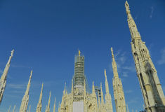 Milano Dome ( Duomo ). This is a photo of the famous dome in Milano, Italy.Milan's layout, with streets either radiating from the Duomo or circling it, reveals Stock Photography