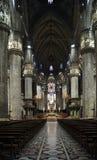 Milano duomo katedra w Mediolańskim wnętrzu fotografia royalty free