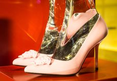 Fashion shoes in Milan - Italy Stock Image