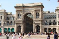 Milano, galleria di Vittorio Emanuele II, Italia Fotografie Stock Libere da Diritti