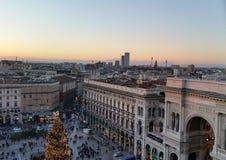 Milano gallery. Sunset gallery Milano stock photos