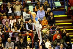 Milano grande Prix relativo alla ginnastica 2008 Immagini Stock
