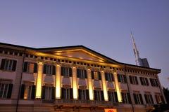 Milano - hotel di Moschino del mesone e nuovo grattacielo Fotografia Stock Libera da Diritti