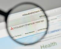 Milano, Italia - 1° novembre 2017: Lo di Mitsubishi Chemical Holdings fotografie stock libere da diritti