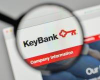 Milano, Italia - 1° novembre 2017: Logo della Banca di Key Corp sul websi fotografia stock
