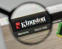 Milano, Italia - 1° novembre 2017: Logo di Kingston sul sito Web uff immagine stock libera da diritti