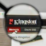 Milano, Italia - 1° novembre 2017: Logo di Kingston sul sito Web uff immagine stock