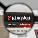 Milano, Italia - 1° novembre 2017: Logo di Kingston sul sito Web uff immagini stock libere da diritti