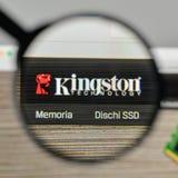 Milano, Italia - 1° novembre 2017: Logo di Kingston sul sito Web uff fotografia stock libera da diritti