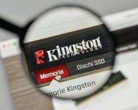 Milano, Italia - 1° novembre 2017: Logo di Kingston sul sito Web uff fotografia stock