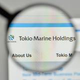 Milano, Italia - 1° novembre 2017: Logo di Tokio Marine Holdings sulla t Immagine Stock Libera da Diritti