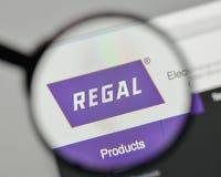Milano, Italia - 1° novembre 2017: Logo regale di Beloit sul websit Immagine Stock Libera da Diritti