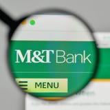 Milano, Italia - 1° novembre 2017: M & T la Bank Corp logo sul noi immagine stock libera da diritti
