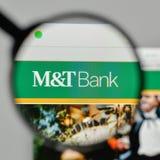 Milano, Italia - 1° novembre 2017: M & T la Bank Corp logo sul noi fotografie stock