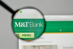 Milano, Italia - 1° novembre 2017: M & T la Bank Corp logo sul noi fotografie stock libere da diritti