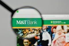 Milano, Italia - 1° novembre 2017: M & T la Bank Corp logo sul noi fotografia stock