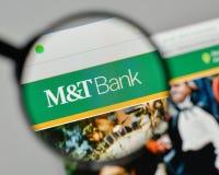 Milano, Italia - 1° novembre 2017: M & T la Bank Corp logo sul noi immagini stock