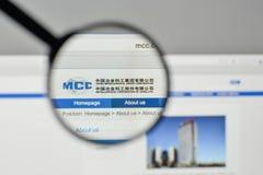 Milano, Italia - 1° novembre 2017: Metallurgical Corp del ceppo della Cina immagine stock libera da diritti