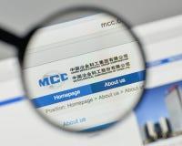 Milano, Italia - 1° novembre 2017: Metallurgical Corp del ceppo della Cina fotografia stock libera da diritti