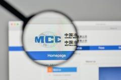 Milano, Italia - 1° novembre 2017: Metallurgical Corp del ceppo della Cina fotografie stock libere da diritti