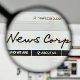 Milano, Italia - 1° novembre 2017: News Corp logo sul sito Web fotografia stock libera da diritti