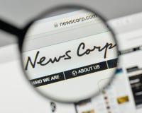 Milano, Italia - 1° novembre 2017: News Corp logo sul sito Web fotografie stock