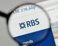 Milano, Italia - 1° novembre 2017: Royal Bank della Scozia raggruppa il lo fotografie stock
