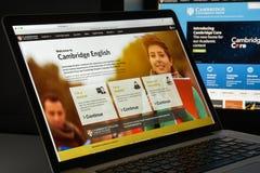 Milano, Italia - 10 agosto 2017: Cambridge homepage del sito Web del org Fotografie Stock