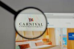 Milano, Italia - 10 agosto 2017: Carnival Corporation & logo del plc Immagine Stock