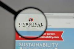 Milano, Italia - 10 agosto 2017: Carnival Corporation & logo del plc Immagini Stock