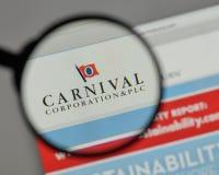 Milano, Italia - 10 agosto 2017: Carnival Corporation & logo del plc immagini stock libere da diritti