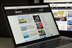 Milano, Italia - 10 agosto 2017: Homepage del sito Web di ABC Logo di ABC visibile Immagine Stock