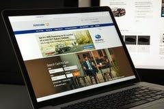 Milano, Italia - 10 agosto 2017: Homepage del sito Web di Autotrader L'IT Immagini Stock