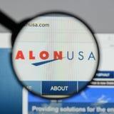 Milano, Italia - 10 agosto 2017: Homepage del sito Web di energia di Alon U.S.A. Fotografia Stock