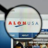 Milano, Italia - 10 agosto 2017: Homepage del sito Web di energia di Alon U.S.A. Immagine Stock Libera da Diritti