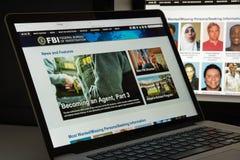 Milano, Italia - 10 agosto 2017: Homepage del sito Web di Fbi È fotografie stock libere da diritti