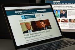 Milano, Italia - 10 agosto 2017: Homepage del sito Web di Foxnews È Immagini Stock