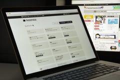 Milano, Italia - 10 agosto 2017: Homepage del sito Web di Nicovideo i Fotografia Stock